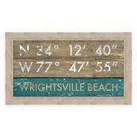 Wrightsville Beach, NC, Coordinates Framed Wall Art