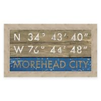 Morehead City, NC, Coordinates Framed Wall Art