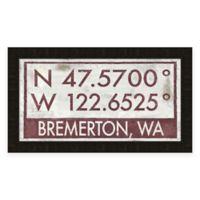 Bremerton Coordinates Framed Giclée Wall Art