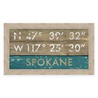 Spokane Coordinates Framed Giclée Wall Art