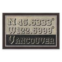 Vancouver Coordinates Framed Giclée Wall Art