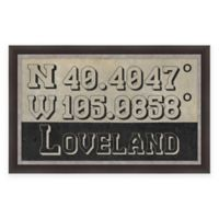 Loveland Colorado Coordinates Framed Wall Art