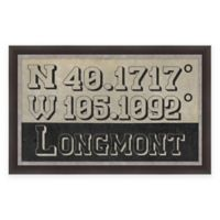 Longmont Colorado Coordinates Framed Wall Art