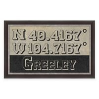 Greeley Colorado Coordinates Framed Wall Art