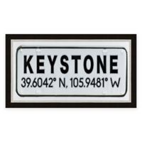 Keystone Colorado Coordinates Framed Wall Art