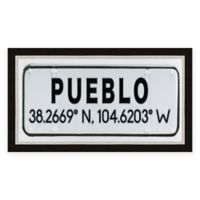 Pueblo Colorado Coordinates Framed Wall Art