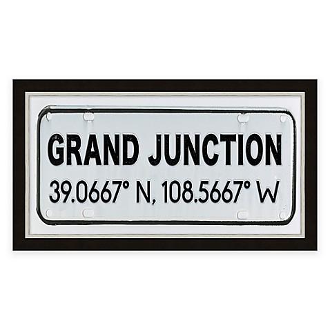 Grand Junction Colorado Coordinates Framed Wall Art Bed