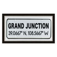 Grand Junction Colorado Coordinates Framed Wall Art