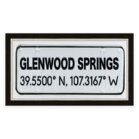 Glenwood Springs Colorado Coordinates Framed Wall Art