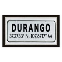 Durango Colorado Coordinates Framed Wall Art