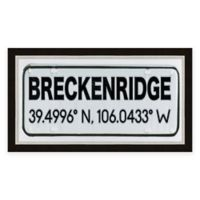Breckenridge Springs Colorado Coordinates Framed Wall Art