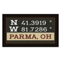 Parma Ohio Coordinates Framed Wall Art