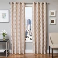 Softline Paloma 96-Inch Jacquard Grommet Top Window Curtain Panel in Natural
