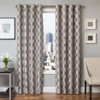 Softline Paloma 96-Inch Jacquard Grommet Top Window Curtain Panel in Silver