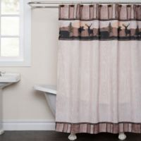 Silhouette Wildlife Shower Curtain