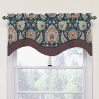 Waverly Clifton Hall Scalloped Cotton Valance in Red