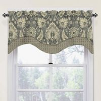 Waverly Clifton Hall Scalloped Cotton Valance in Flax