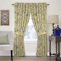 Waverly Brighton Blossom 84-Inch Rod Pocket Window Curtain Panel in Flax