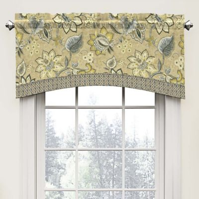 Waverly Brighton Blossom Arch Valance in Flax. Buy Valance Curtains for Bedroom from Bed Bath   Beyond