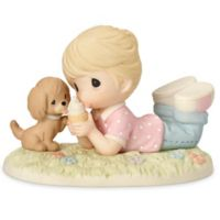 Precious Moments® Ice Cream with Joy when You're with Me Girl with Dog Figurine