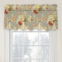 Waverly Sanctuary Rose Peek-A-Boo Cotton Valance in Clay