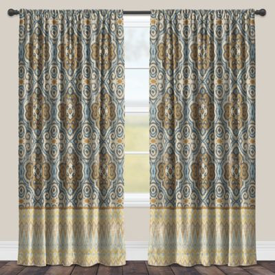 Laural Home Persian Antique 84 Inch Room Darkening Rod Pocket Window  Curtain Panel In