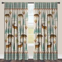 Laural Home® Woodcut Lodge 84-Inch Room-Darkening Rod Pocket Window Curtain Panel