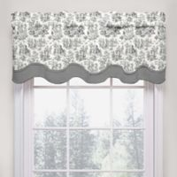 Waverly Charmed Life Scalloped Cotton Valance in Onyx