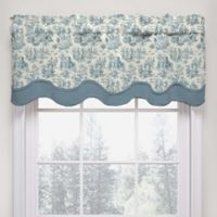 Waverly Charmed Life Scalloped Cotton Valance in Cornflower