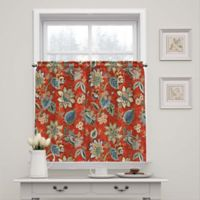 Waverly Brighton Blossom 36-Inch Window Curtain Tier Pair in Red
