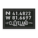 Cleveland Ohio Coordinates Framed Wall Art