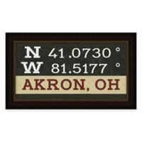Akron Ohio Coordinates Framed Wall Art