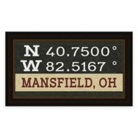 Mansfield Ohio Coordinates Framed Wall Art