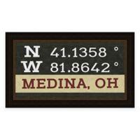 Medina Ohio Coordinates Framed Wall Art