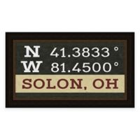 Solon Ohio Coordinates Framed Wall Art