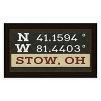 Stow Ohio Coordinates Framed Wall Art
