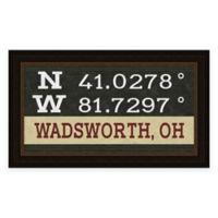 Wadsworth Ohio Coordinates Framed Wall Art