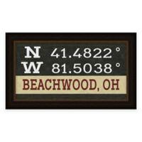 Beachwood Ohio Coordinates Framed Wall Art
