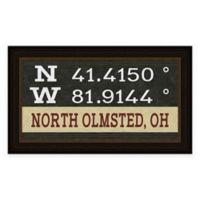 North Olmstead Ohio Coordinates Framed Wall Art