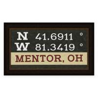 Mentor Ohio Coordinates Framed Wall Art