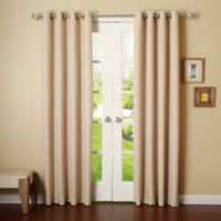 Decorinnovation Basketweave 84-Inch Room Darkening Grommet Top Window Curtain Panel Pair in Beige