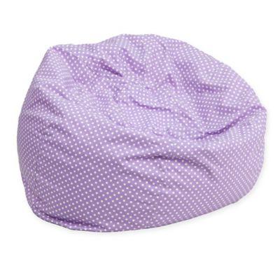 seating u003e flash furniture dot oversized bean bag chair lavender dot
