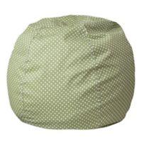 Flash Furniture Dot Small Bean Bag Chair in Green Dot