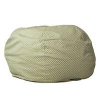 Flash Furniture Dot Oversized Bean Bag Chair Green Dot