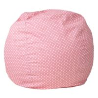 Flash Furniture Dot Small Bean Bag Chair in Light Pink Dot