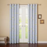 Decorinnovation Bunny 84-Inch Room Darkening Grommet Top Window Curtain Panel Pair in Blue