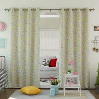 Decorinnovation Bunny 63-Inch Room Darkening Grommet Top Window Curtain Panel Pair in Beige