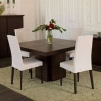 Tema Dusk 59-Inch Square Dining Table in Chocolate