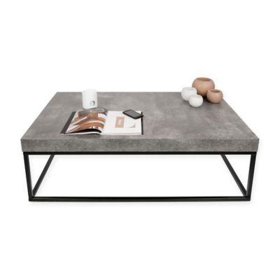 tema petra rectangular coffee table in black