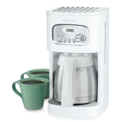 Cuisinart Thermal 10-Cup Programmable Coffee Maker in White - Bed Bath & Beyond